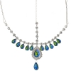 Head Jewellery Drop Green Aurora Borealis